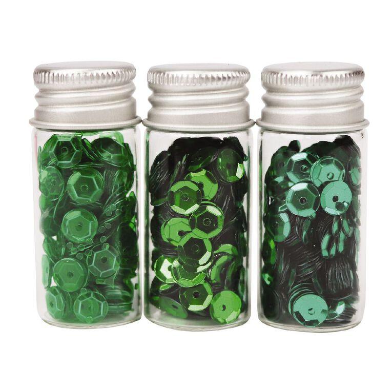 Uniti Sequins Greens 3 Pack, , hi-res