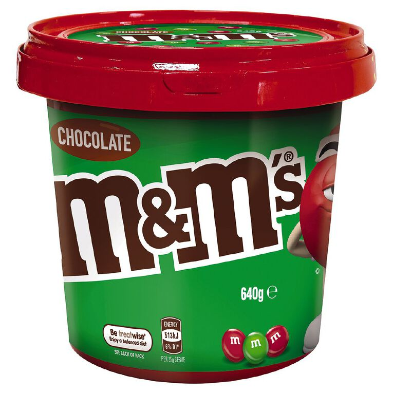 M&M's Red and Green Bucket 640g, , hi-res