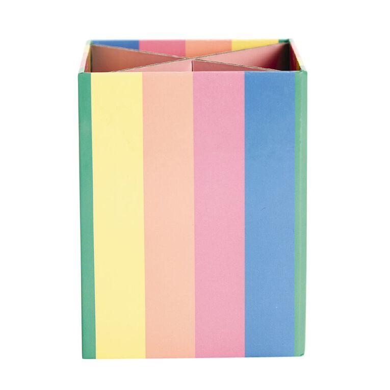 Kookie Novelty Pen Holder Rainbow Multi-Coloured, , hi-res