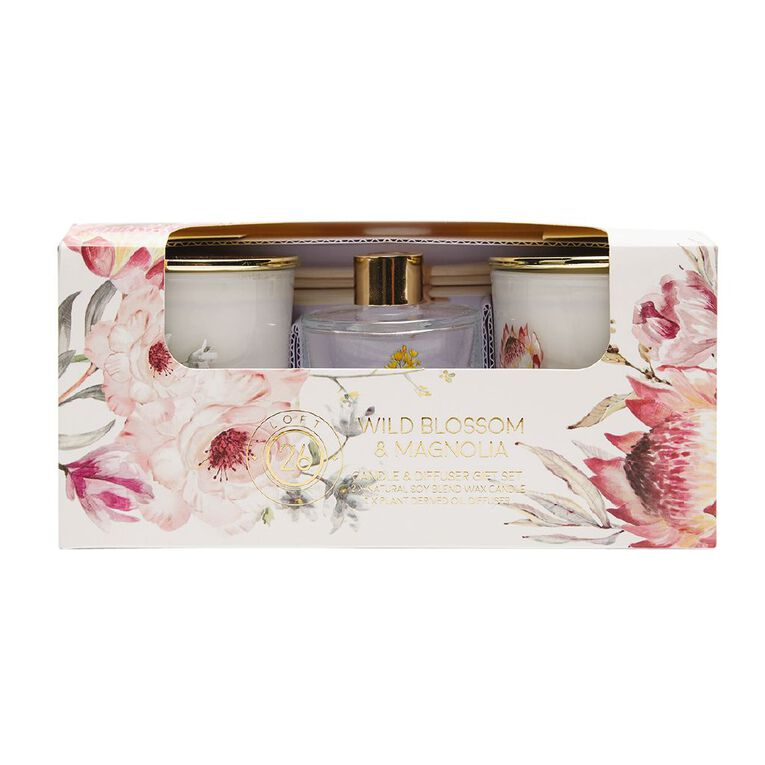 Living & Co Loft 26 Wild Blossom & Magnolia Giftset Pink, , hi-res