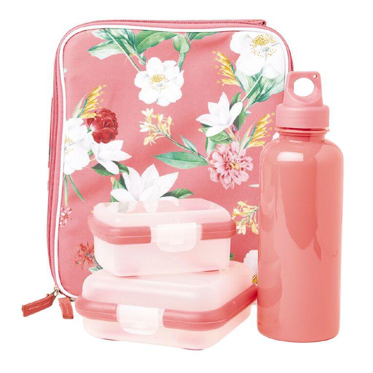 Living & Co Lunch Bag Set Floral Multi-Coloured, , hi-res