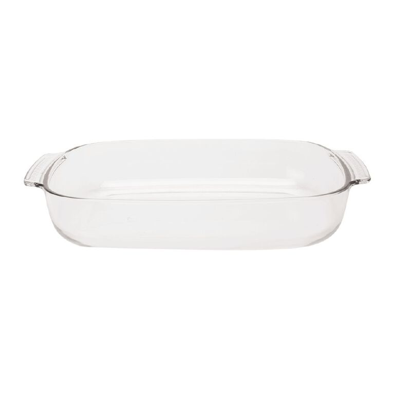 Living & Co Glass Baker Rectangle 3.7L, , hi-res