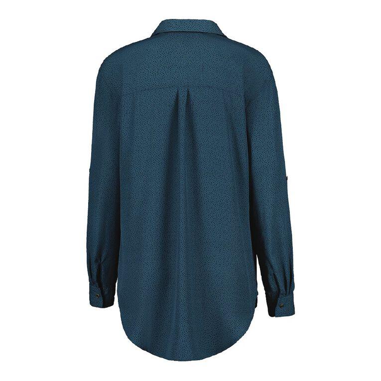 H&H Women's Chiffon Shirt, Green Dark, hi-res