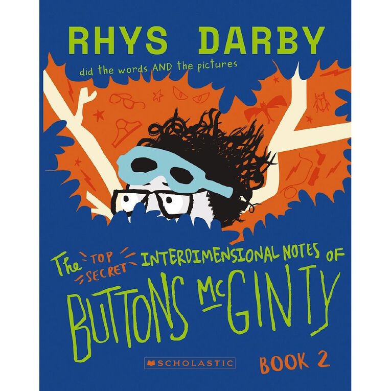 Buttons McGinty #2 The Top-Secret Interdimensional Notes by Rhys Darby, , hi-res