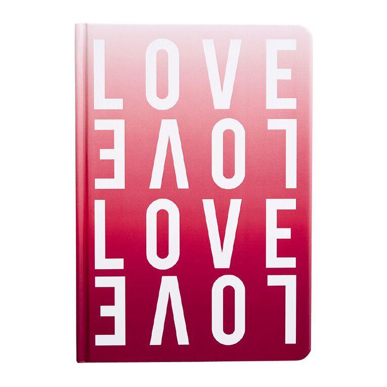 Uniti Fun & Funky Notebook Hardcover PU Love Pink A5, , hi-res
