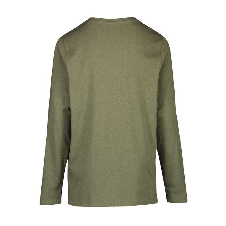Young Original Long Sleeve Print Tee, Khaki, hi-res