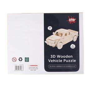 Play Studio 3D Wooden Puzzle Vehicle Assorted