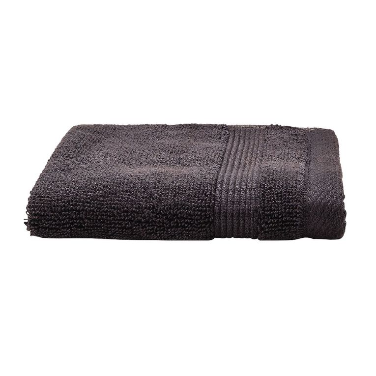 Living & Co Hotel Collection Face Towel Charcoal 30cm x 30cm, Charcoal, hi-res