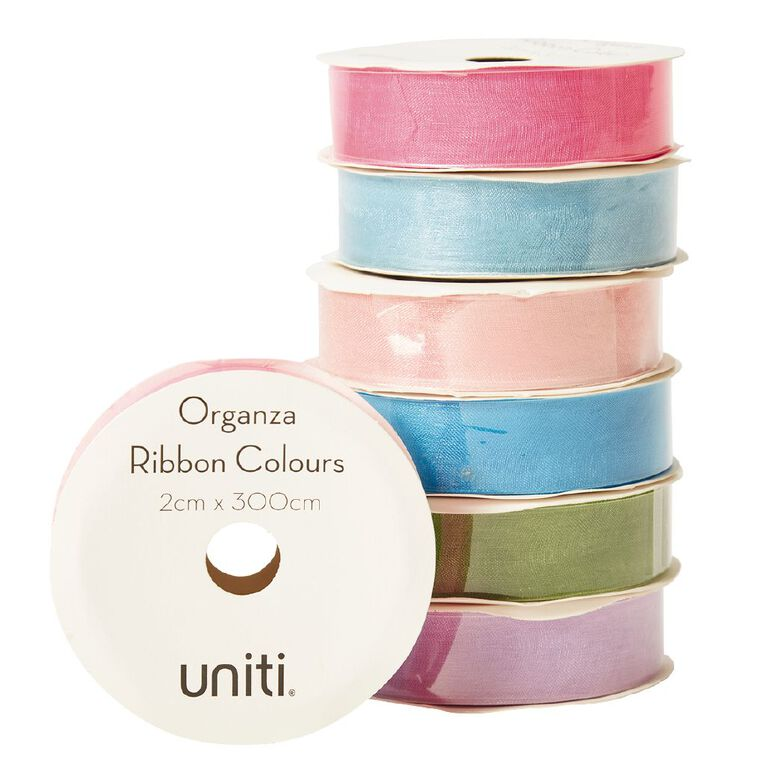 Uniti Organza Ribbon Colours 3m Assorted, , hi-res
