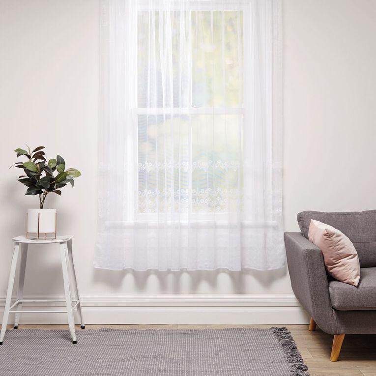 Living & Co Daisetta Net White 150cm x 120cm Drop, White, hi-res