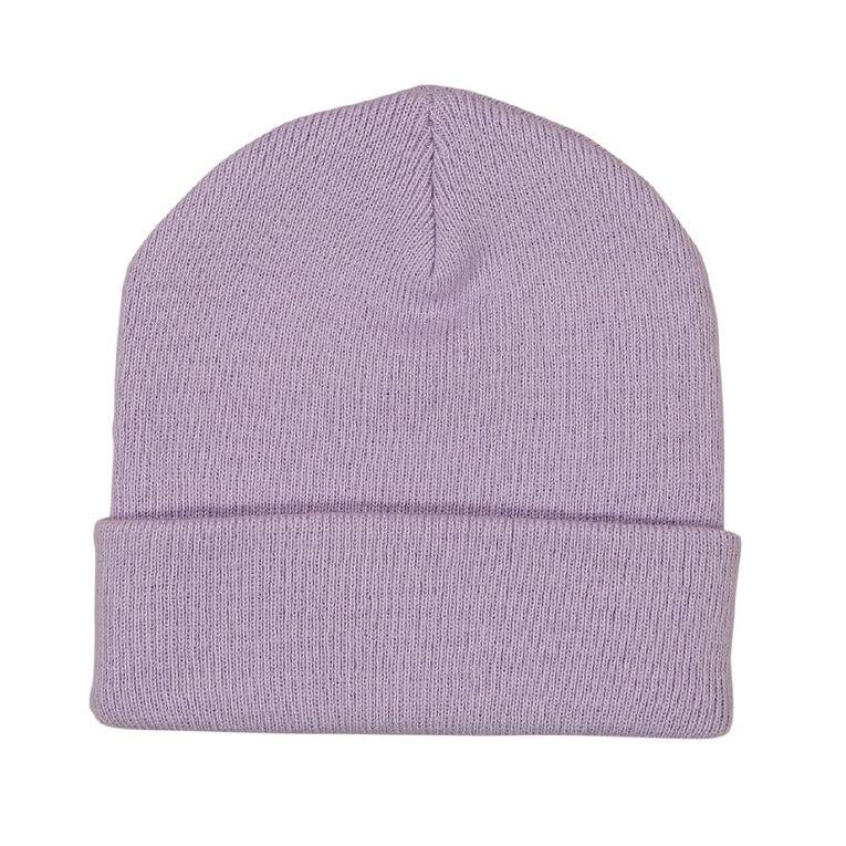 H&H Essentials Entry Turnup Beanie, Purple, hi-res