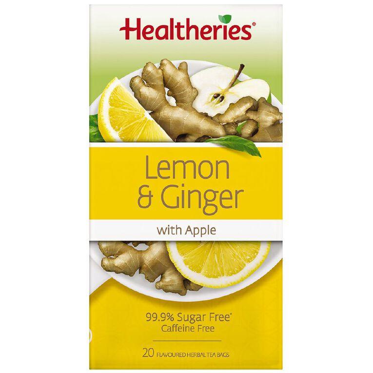Healtheries Lemon & Ginger 20s Tea, , hi-res