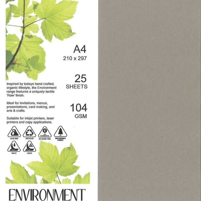 Direct Paper Enviro Paper 104gsm 25 Pack Concrete Grey A4, , hi-res image number null