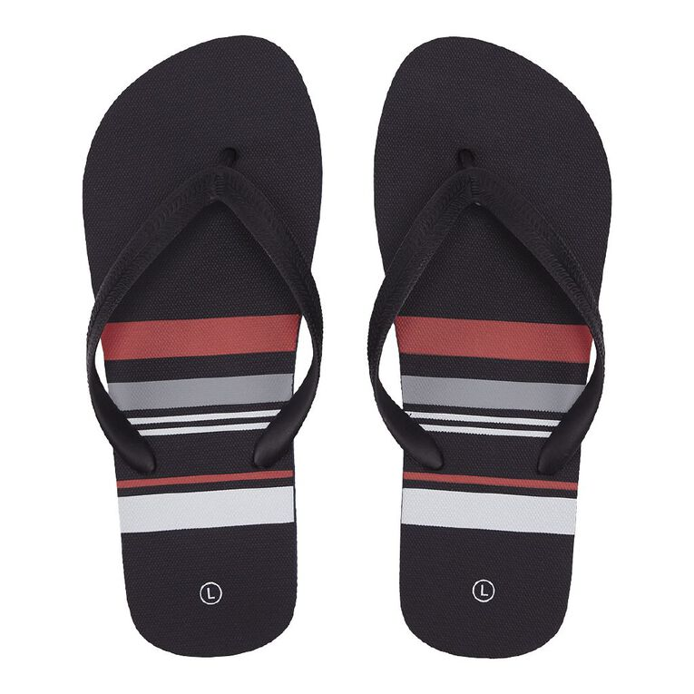 H&H Lines Jandals, Navy/Red/White, hi-res