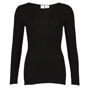 H&H Women's Merino Long Sleeve Boat Neck Top