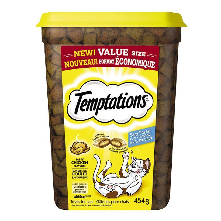 Temptations Cat Treats Tasty Chicken 454g Tub, , hi-res