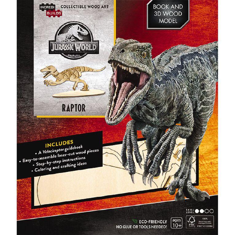 Jurassic World Incredibuilds Raptor 3D Wooden Model, , hi-res