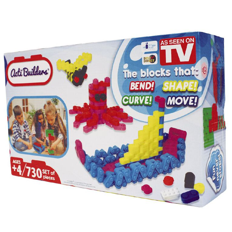 As Seen On TV ACTI Builders 730 Pieces, , hi-res
