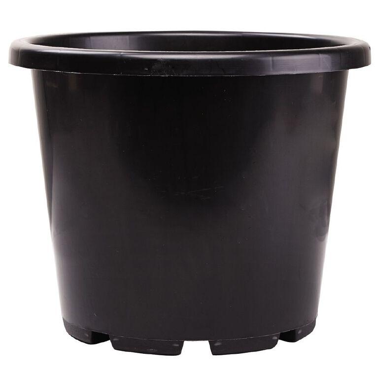 IP Plastics Resin Round Planter Pot 32cm Black 15L, , hi-res