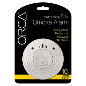 Orca Photoelectric Smoke Alarm 10 Year Long Life Battery with Hush