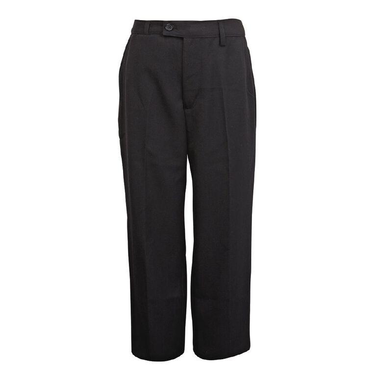 Schooltex Boys' School Trousers, Black, hi-res