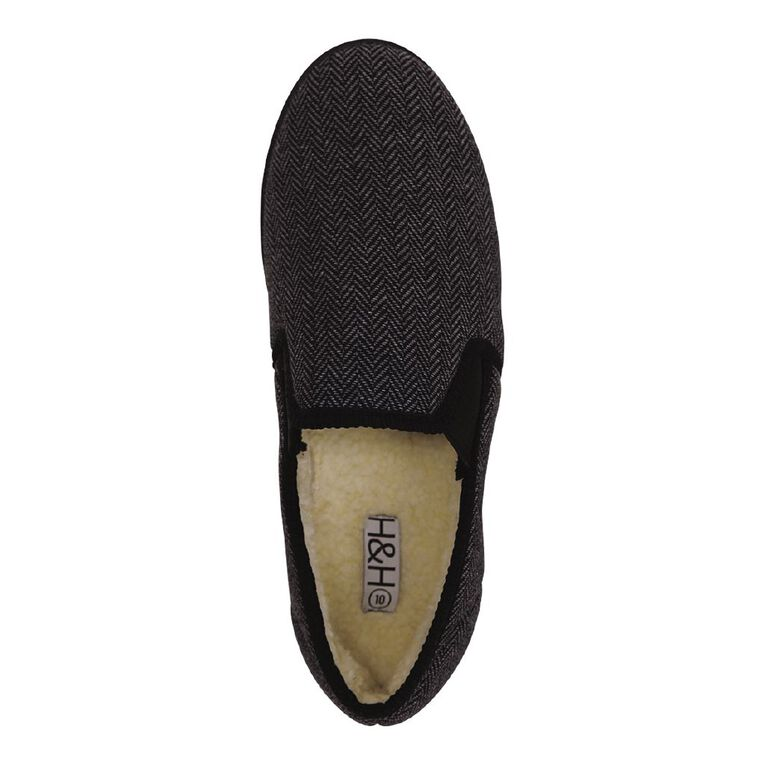 H&H Bittern Slippers, Black, hi-res
