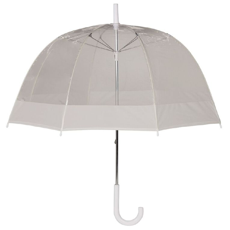 H&H Clear Dome Umbrella, White WNT20, hi-res image number null