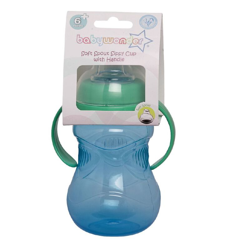 Baby Wonder 2 Handle Gripper Cup with Soft Spout Assorted, , hi-res