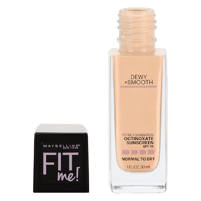 Maybelline Fit Me Dewy + Smooth Foundation 125 Nude Beige, , hi-res