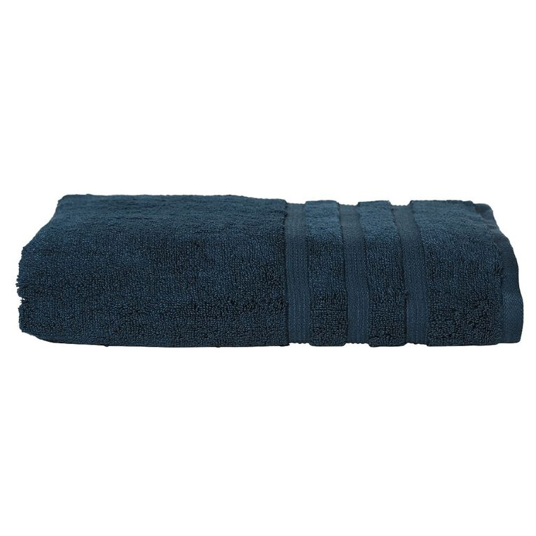 Living & Co Montreal Spa Towel Peacock Blue 90cm x 150cm, Blue, hi-res