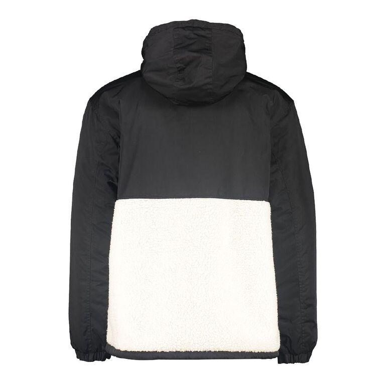 Garage Men's Sherpa Anorak Jacket, Black, hi-res