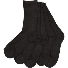 Active Intent Boys' Basic Crew Sport Socks 5 Pack