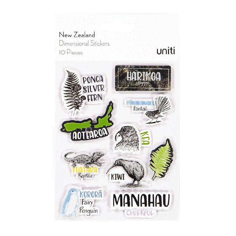 Uniti New Zealand Stickers Dimensional, , hi-res