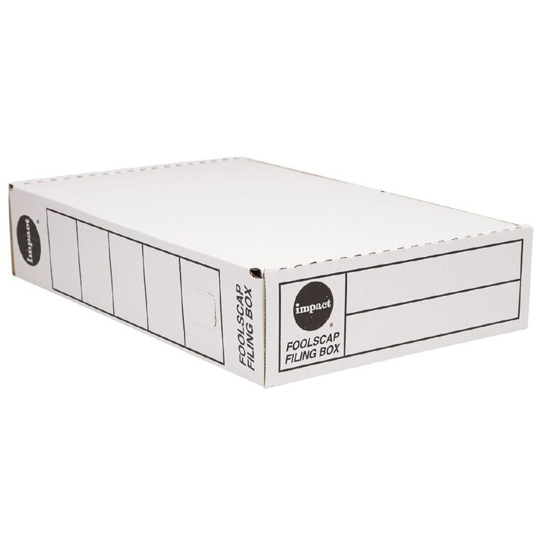 Impact Storage Box Foolscap White, , hi-res