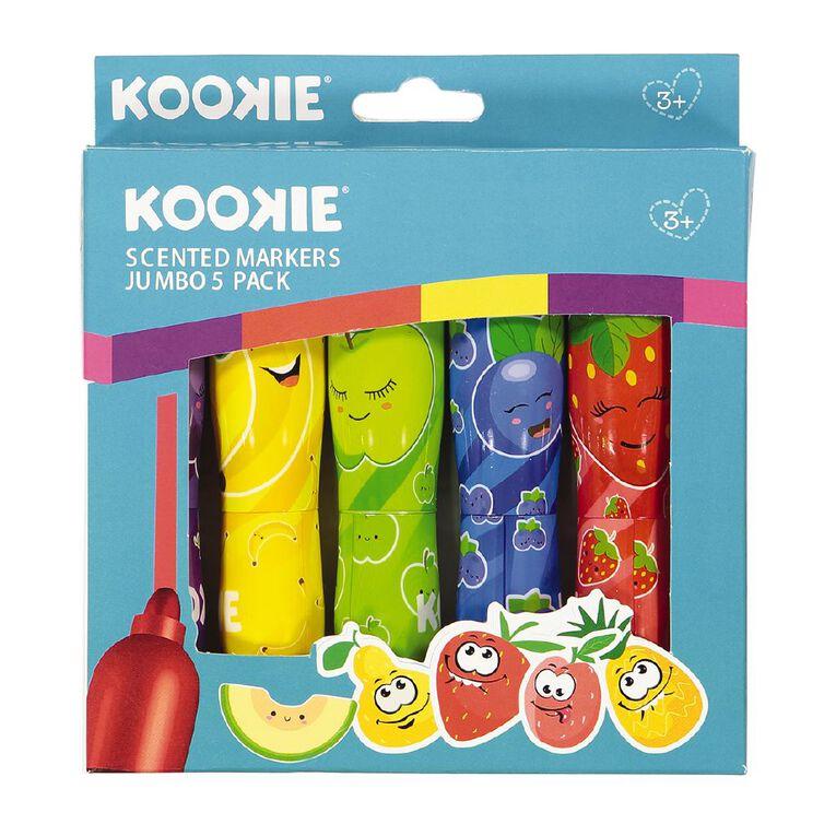 Kookie Scented Jumbo Markers 5 Pack, , hi-res