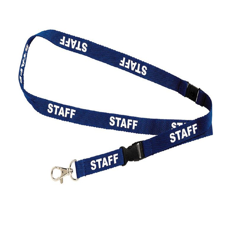 Rexel Lanyard Staff Blue 5 Pack, , hi-res