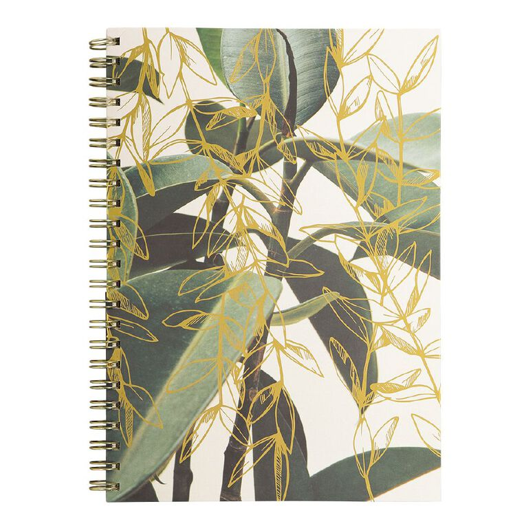 Uniti Platinum Visual Diary Spiral Green Gold Leaf A4, , hi-res
