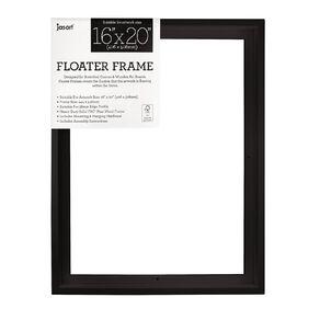 Jasart Floater Frame Thick Edge 16x20 Inches Black