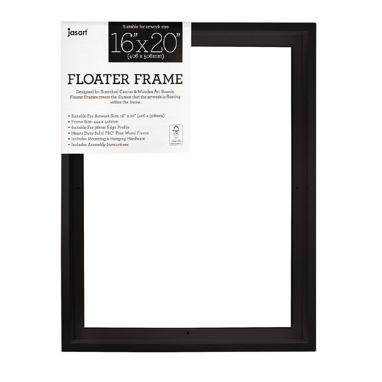 Jasart Floater Frame Thick Edge 16x20 Inches Black, , hi-res image number null