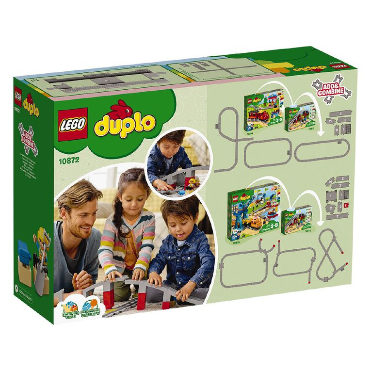 LEGO DUPLO Train Bridge and Tracks 10872, , hi-res