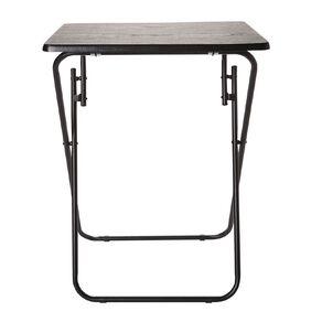 Living & Co Metal Folding Side Table Wood Look