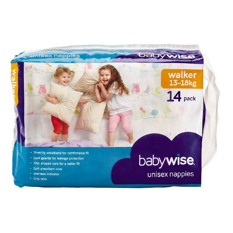 Babywise Nappies Walker Convenience 14 Pack, , hi-res