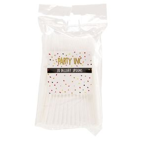 Party Inc Dessert Spoons White 20 Pack