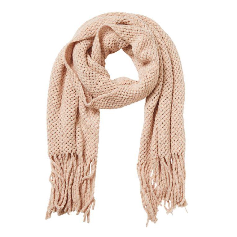 H&H Soft Knit Scarf, Pink Light, hi-res