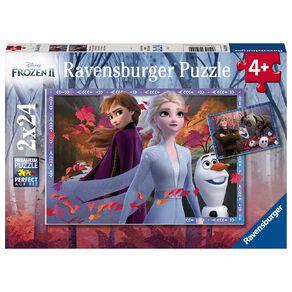 Ravensburger Frozen 2 Frosty Adventures 2x24 Piece Puzzle