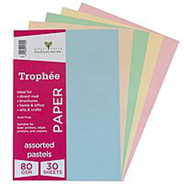 Trophee Paper 80gsm 30 Pack Pastels Assorted A4, , hi-res