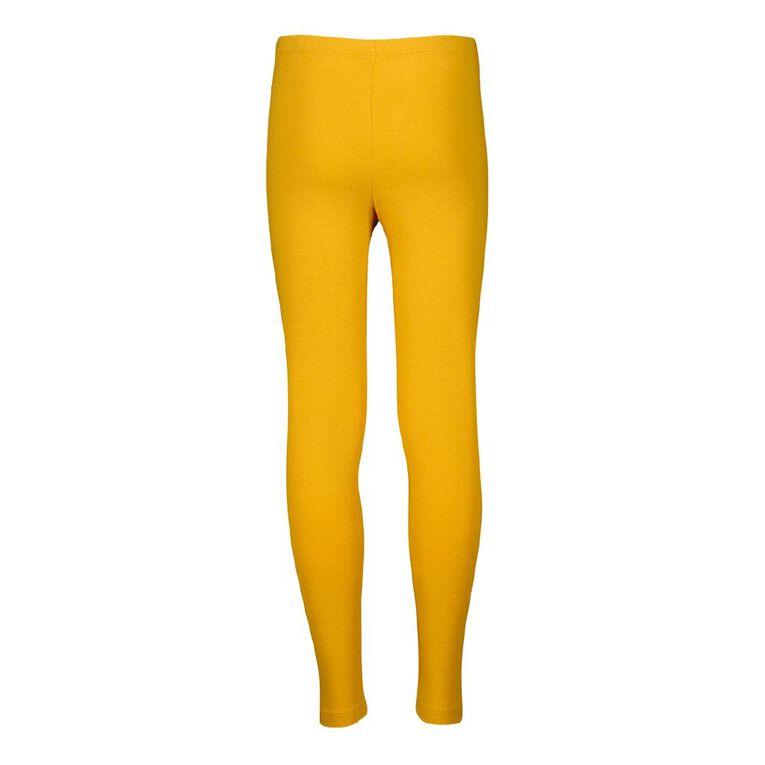 Young Original Plain Leggings, Yellow Dark, hi-res