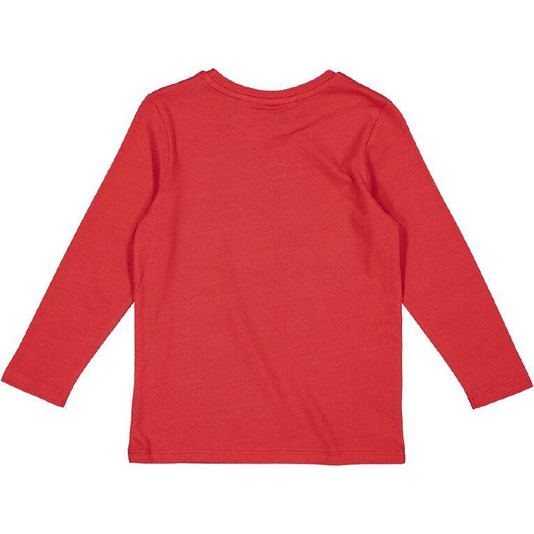 Marvel Long Sleeve Print Tee, Red, hi-res