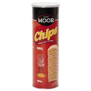 Moor Chips BBQ Flavour 160g