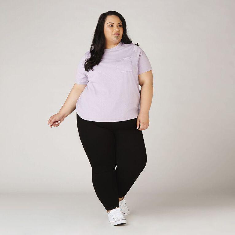 H&H Plus Women's Pull On Jeggings, Black, hi-res